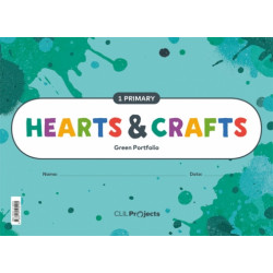 HEARTS & CRAFTS 1 Primary Green Notebook